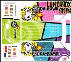 Da-Bomb 60s Pop Art themed vinyl SKIN Kit & Stickers To Fit Tamiya Lunchbox R/C Monster Truck